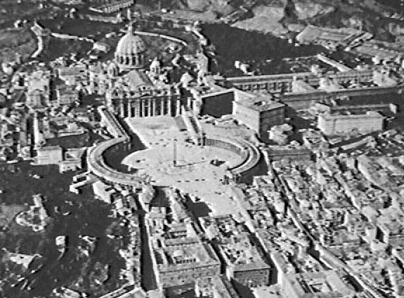 Low Oblique Aerial Photograph Shows St Peters Cathedral In This Late 19th Or Early 20th Century View The Was Presumably Taken From Either A