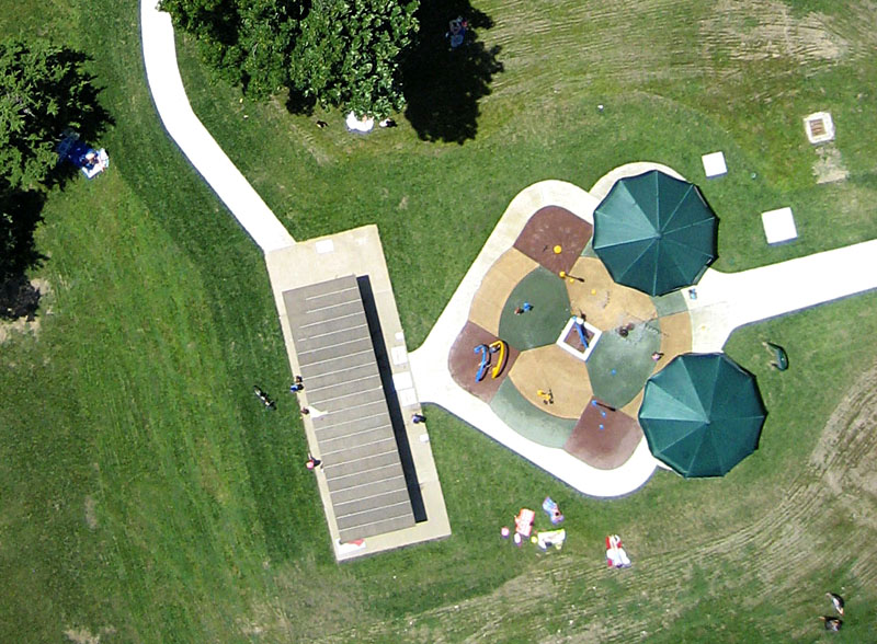 Garden Design Children S Play Area blimp aerial photography, kansas city rose garden