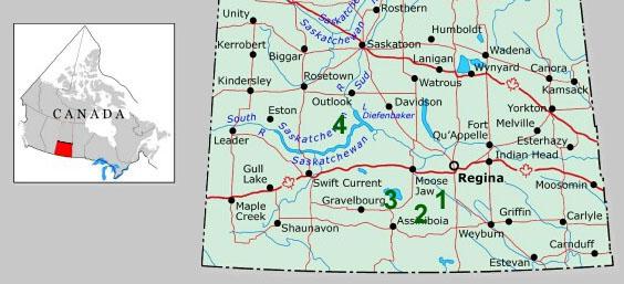 Saskatchewan Kite Aerial Photography - Map of southern saskatchewan canada