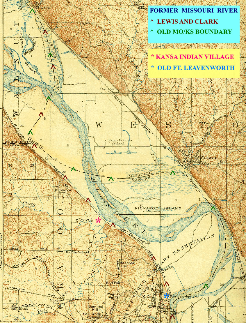 Fort Leavenworth Kansas - Kansas rivers map